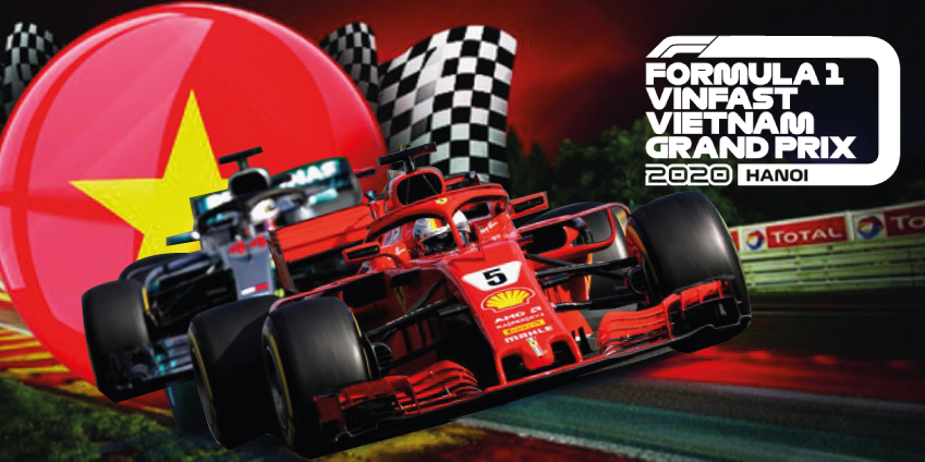 Vietnam's Beauty Advertised On F1 Vietnam Grand Prix Tickets