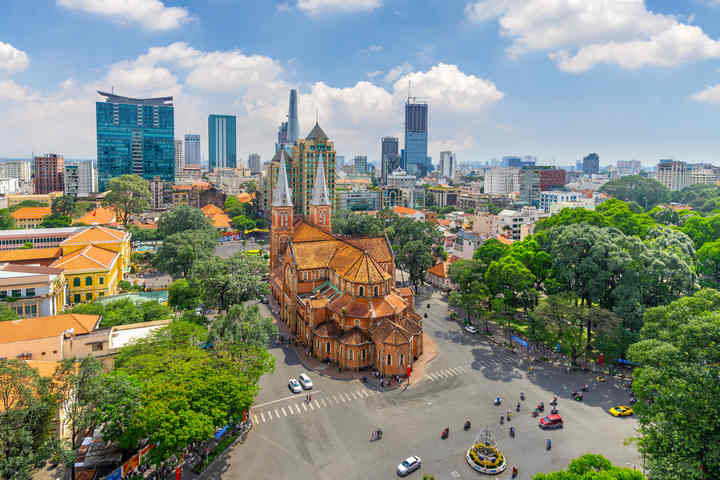 Pham Ngu Lao street, a favorite destination of foreigners in Ho Chi Minh city