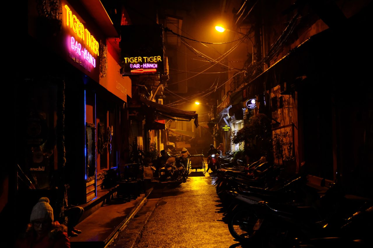 Bar street in Hanoi
