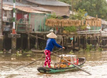 Getting around in Ben Tre, Vietnam