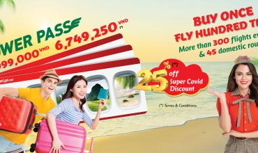 Vietjet Power Pass Buy One Time, Fly Hundred Times